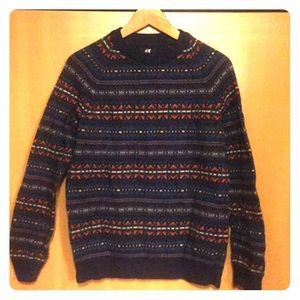 WOOL BLEND PATTERN SWEATER